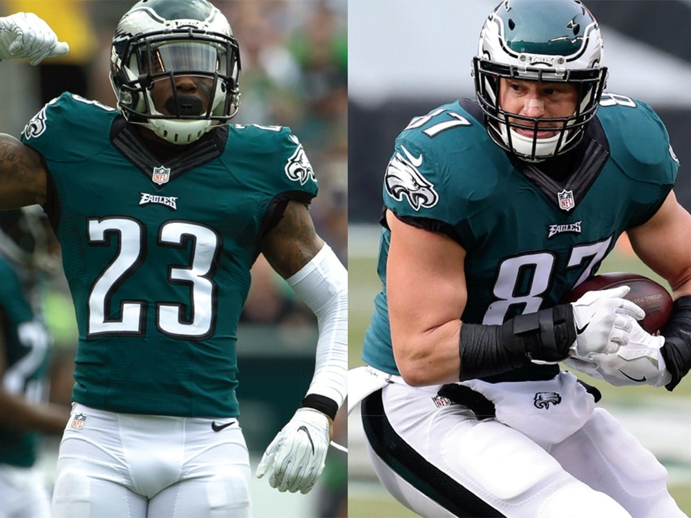 Brent Celek and Rodney McLeod.