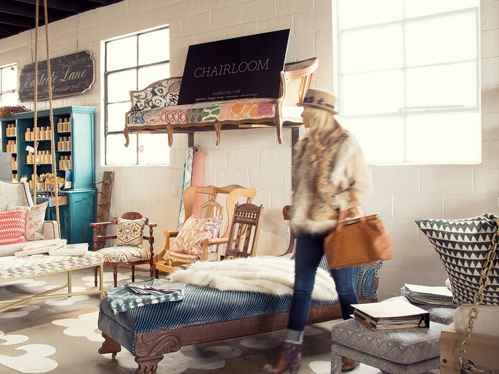 chairloom joins a host of other high end names in fashion home decor and vintage pieces at kennett square s new one stop shop works
