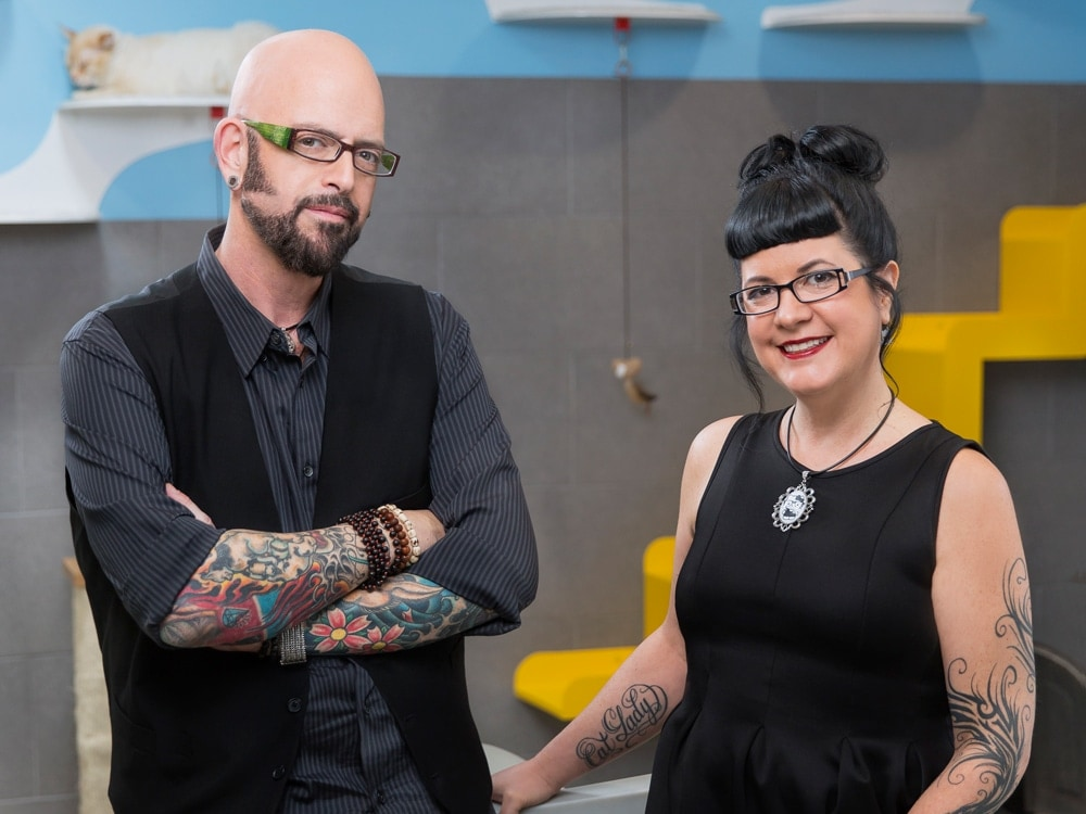 Jackson Galaxy and Kate Benjamin.
