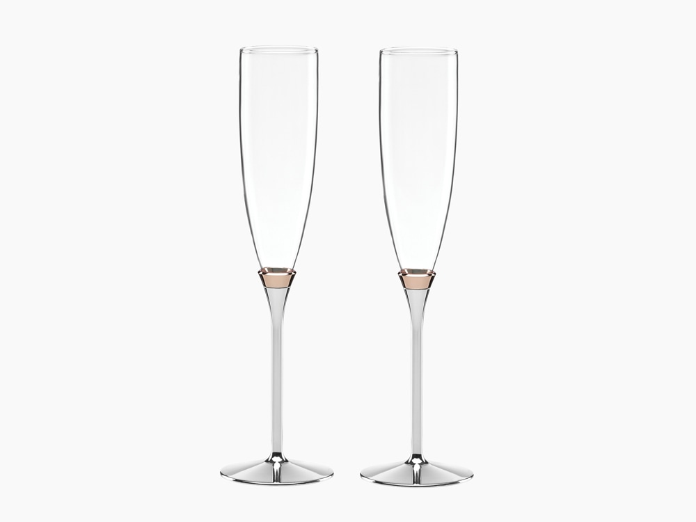 Kate Spade New York Rose Glow Toasting Flute Pair