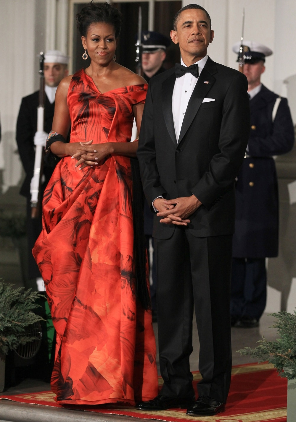 Michelle Obama Alexander McQueen Gown