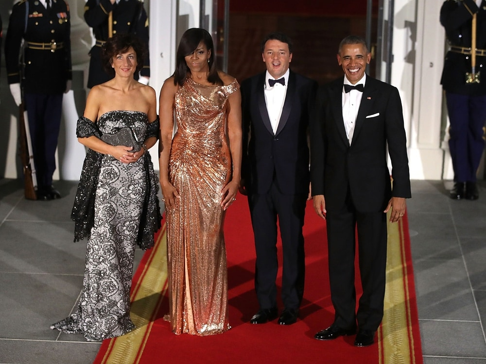 Michelle Obama Atelier Versace Gown