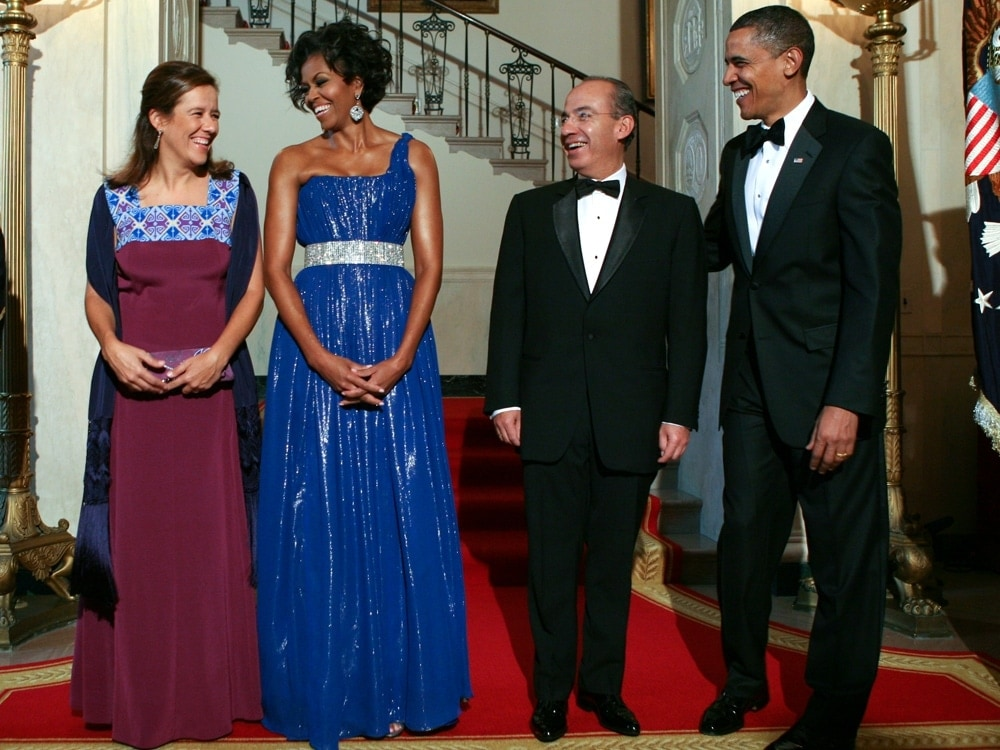 Michelle Obama Peter Soronen Gown