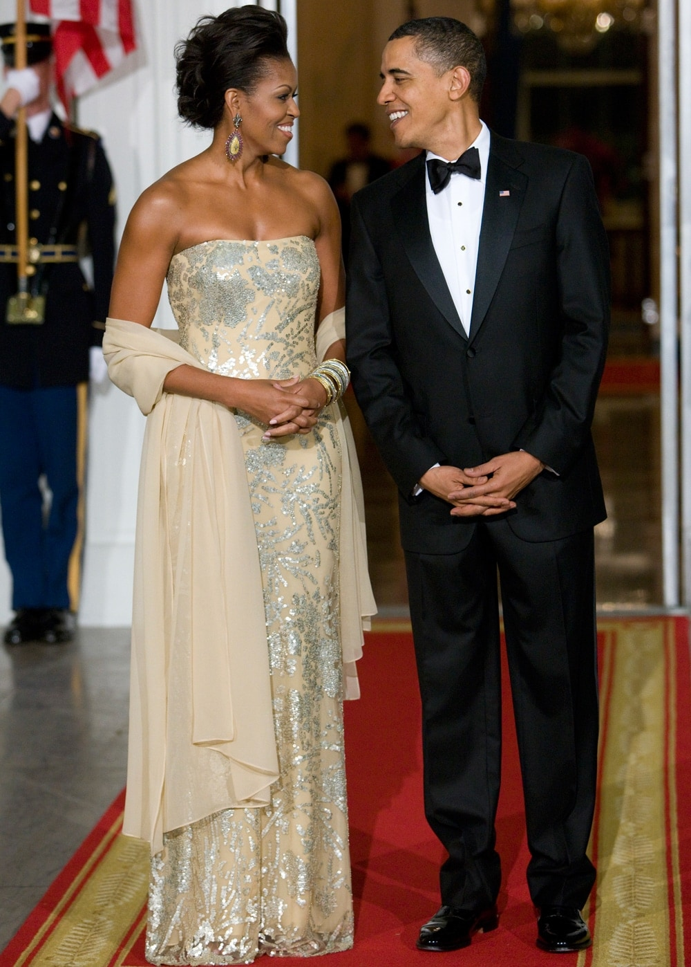 Michelle Obama Naeem Khan Gown