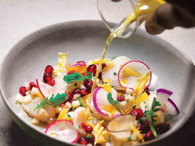 A. Kitchen, on Rittenhouse Square, deals in diverse small plates that recall myriad world cuisines. Here, a scallop crudo.