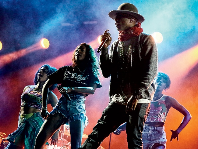 Pharrell Williams headlining last year's Made in America music festival.