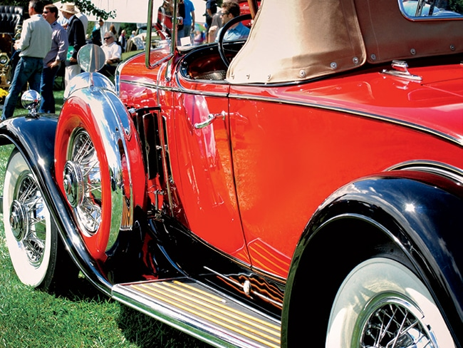 The Concours d'Elegance brings some of the world's rarest—and most beautiful—cars, like this 1934 Cadillac Roadster, to the Main Line