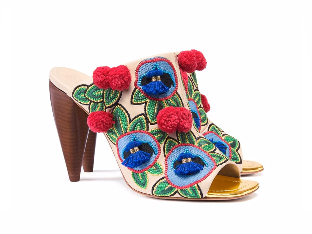 Tory Burch Ellis Embroidered Mules.