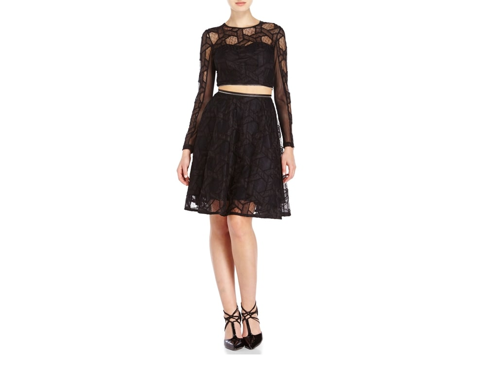 Century 21 Yigal Azrouel Black Lace Mesh Dress