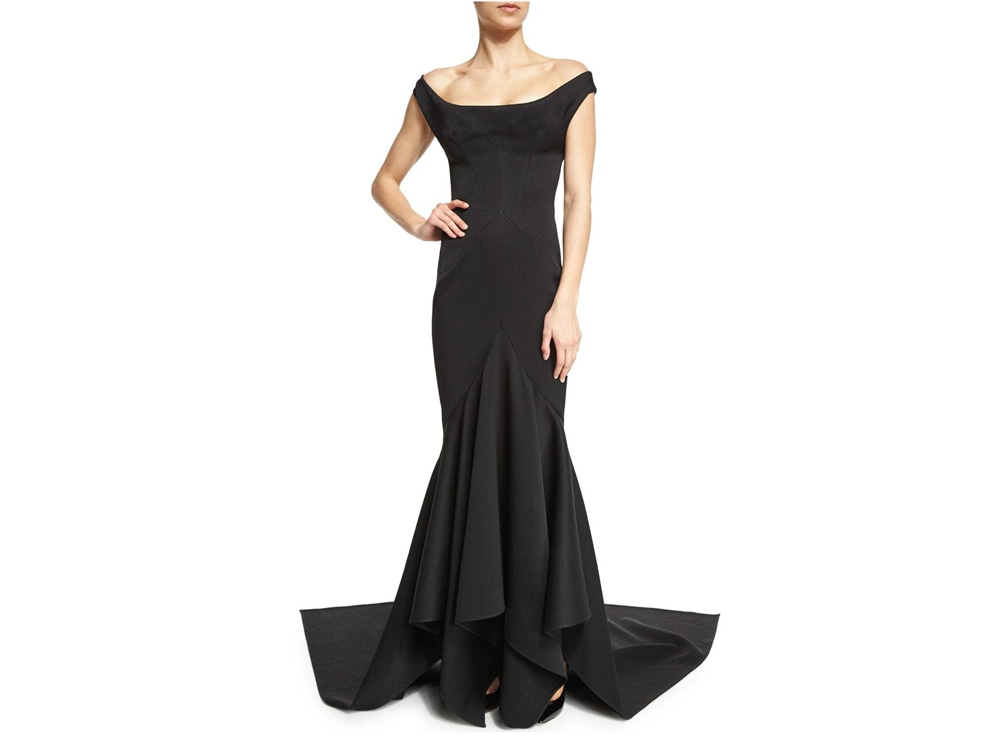 Zac Posen Black Ball Gown